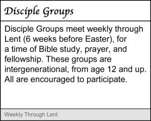 Disciple Groups